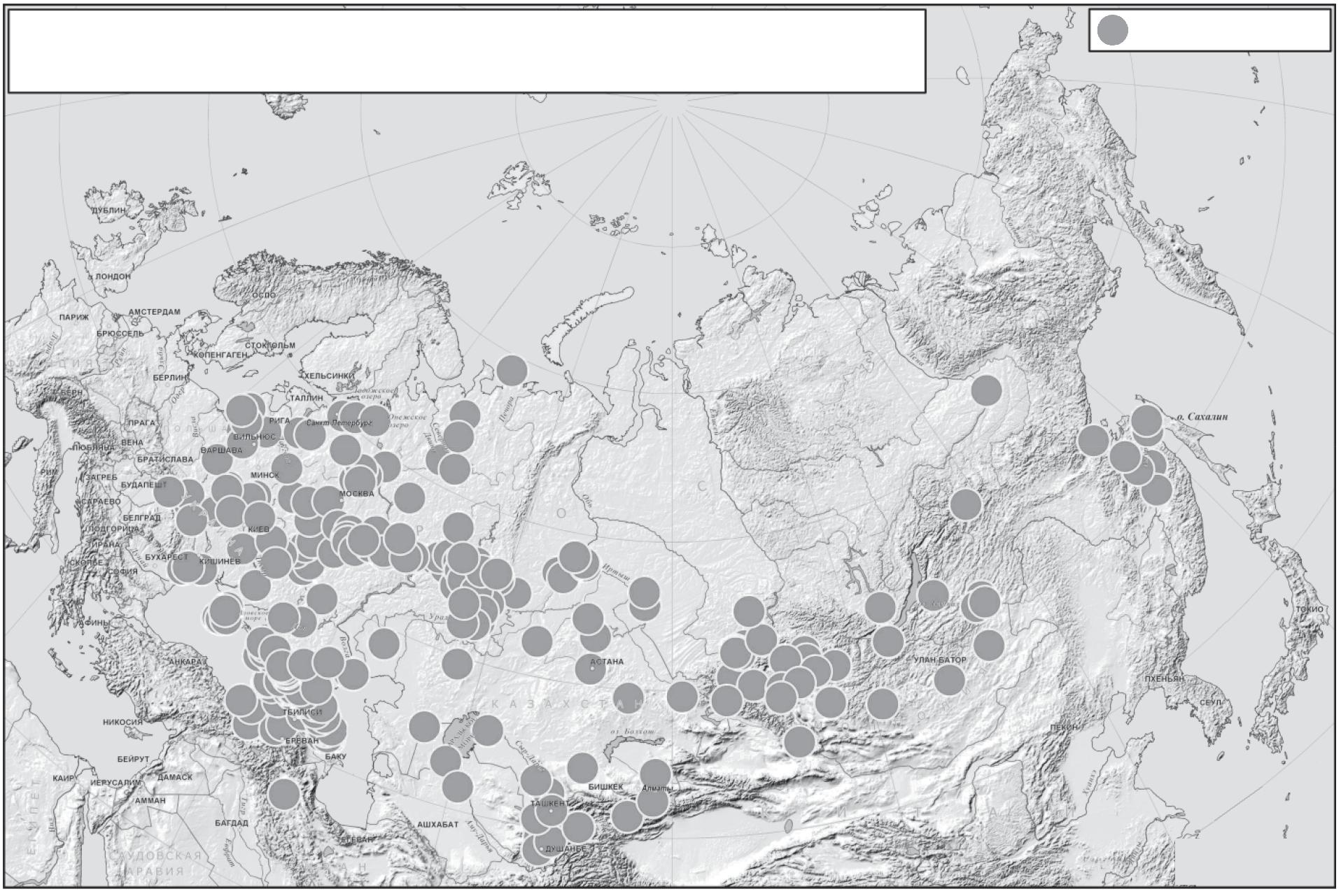Карта популяций